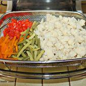Légumes du jardin cuits à la vapeur - Chez Vanda