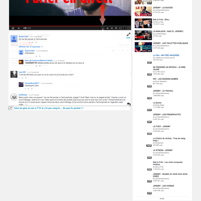 Discussion en direct sur une vidéo Youtube