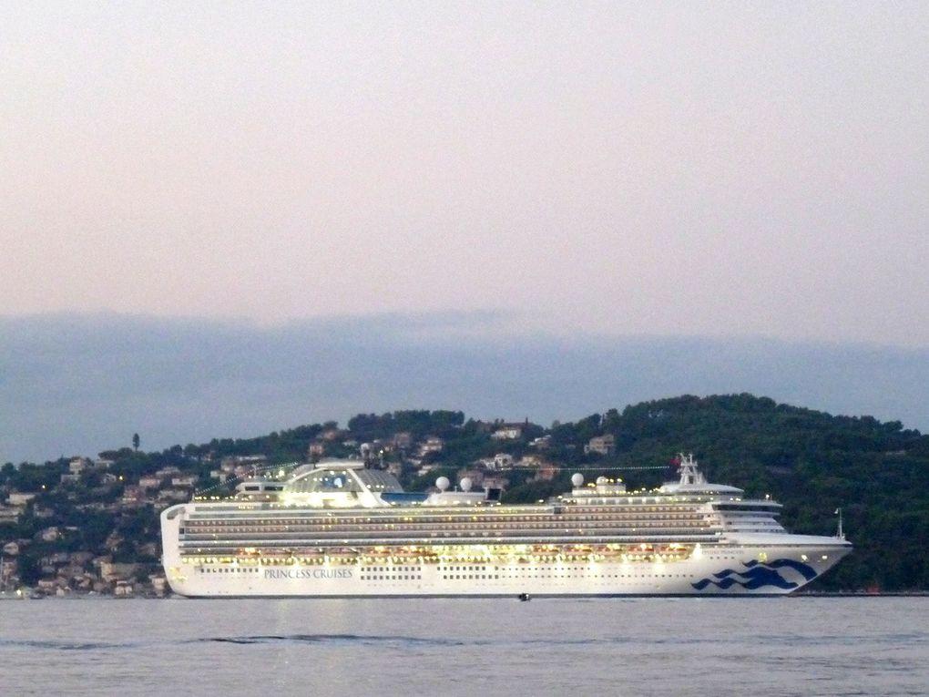 SAPPHIRE PRINCESS , arrivant à la Seyne sur mer le 29 septembre 2018