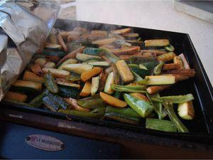 Plancha de magrets et d'échines aux petits légumes