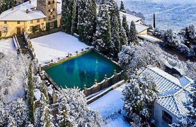 Veitshöchheims italienische Partnerstadt Greve in Chianti im Winterkleid