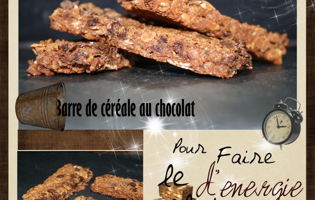 Barre de céréale au chocolat : super simple !!!!