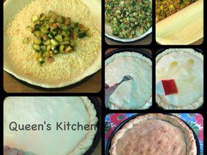 calzone al profumo di curry con zucchine, prosciutto cotto e scamorza affumicata