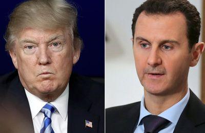 """Damas dénonce un """"Etat voyou"""" après les propos de Trump sur l'""""élimination"""" d'Assad (AFP)"""