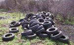 PORCIEU-AMBLAGNIEU / POLLUTION 200 pneus jetés en pleine nature...