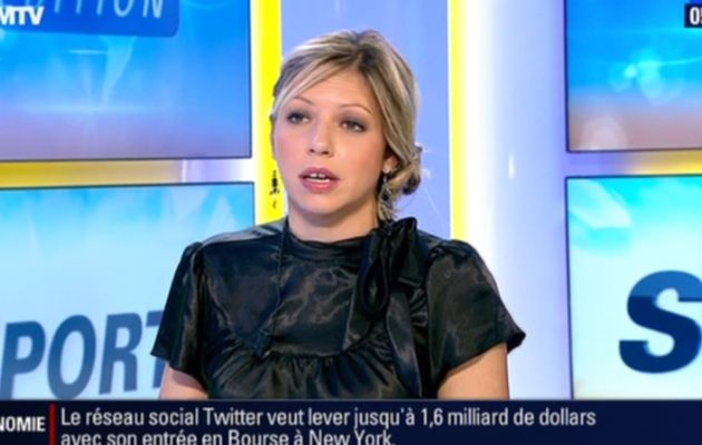 2013 10 25 - 05H44 - CAROLE COATSALIOU - BFM TV - PREMIERE EDITION 'LES SPORTS'