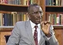 Imágenes de Cheikh Anta Diop, historiador y antropólogo senegalés que estudió los orígenes de la raza humana y la cultura africana precolonial. Ha sido considerado uno de los más grandes historiadores africanos del siglo XX.- El Muni.