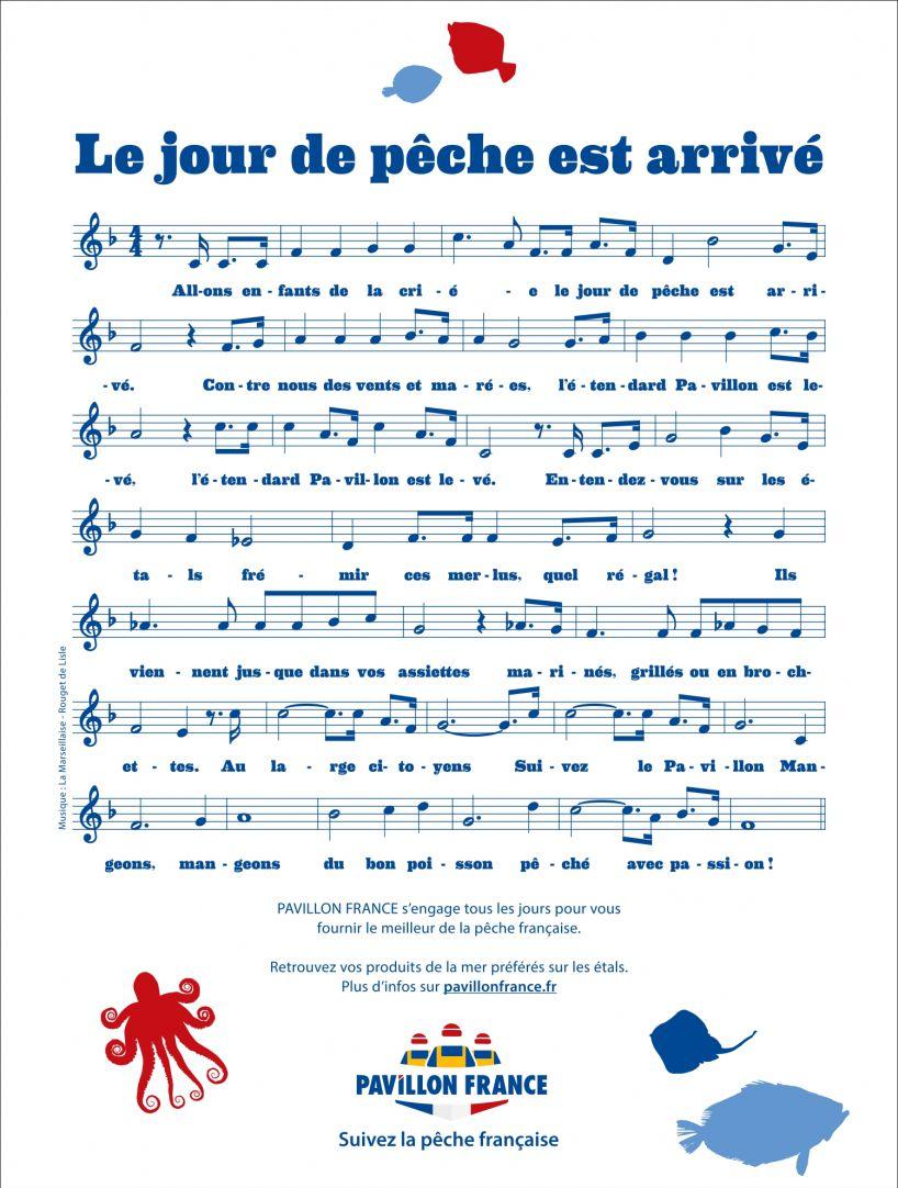 """Pavillon France : """"Au large citoyens, le Jour de Pêche est arrivé ! """" I Agence : Les Gros Mots, Paris, France (14 juillet 2021)"""