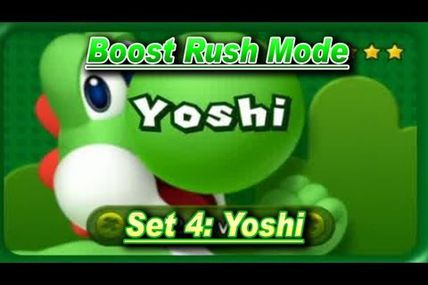 Boost Rush Mode in New Super Mario Bros U Yoshi Set