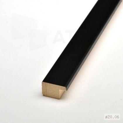 Exemple de moulures noires sélectionnées parmi nos collections. L'ensemble de nos collections est visible à l'Atelier.