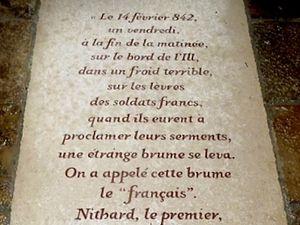 Abbaye de Saint-Riquier : hommage à Nithard et à la langue française