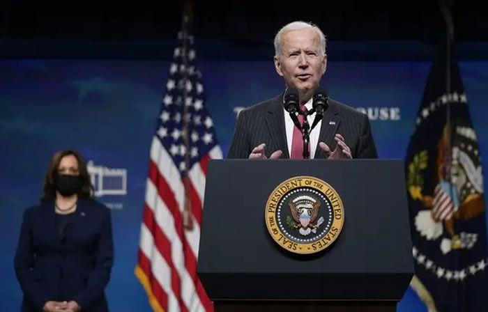 Le président américain Joe Biden à la Maison Blanche le 10 février 2021. — Patrick Semansky/AP/SIPA