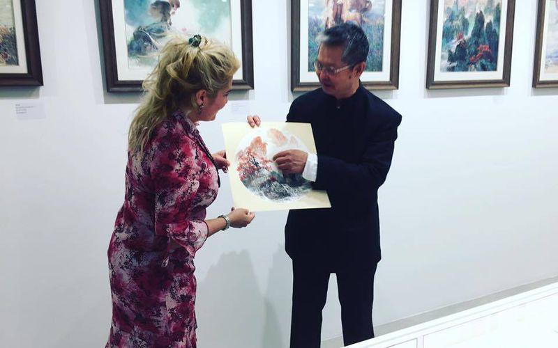 Inauguration de l'exposition de Mr Defu Guo#DefuGuoaux#Galeriesdudiamant#VeronicaAntonelli