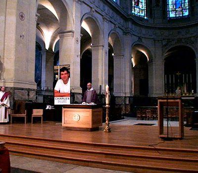 Charles à l'église Saint Roch