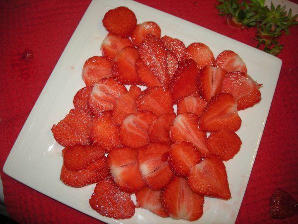 Carpaccio de fraises .