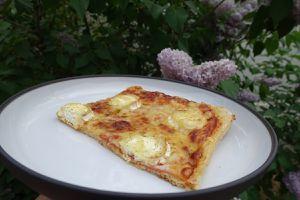 Pizza chèvre et jambon