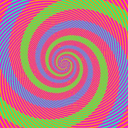 Spirales Vertes et Bleues