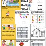 Fiche autonomie MS (construction Lego) et vocabulaire semaine 27 Cabanes chez Angéline
