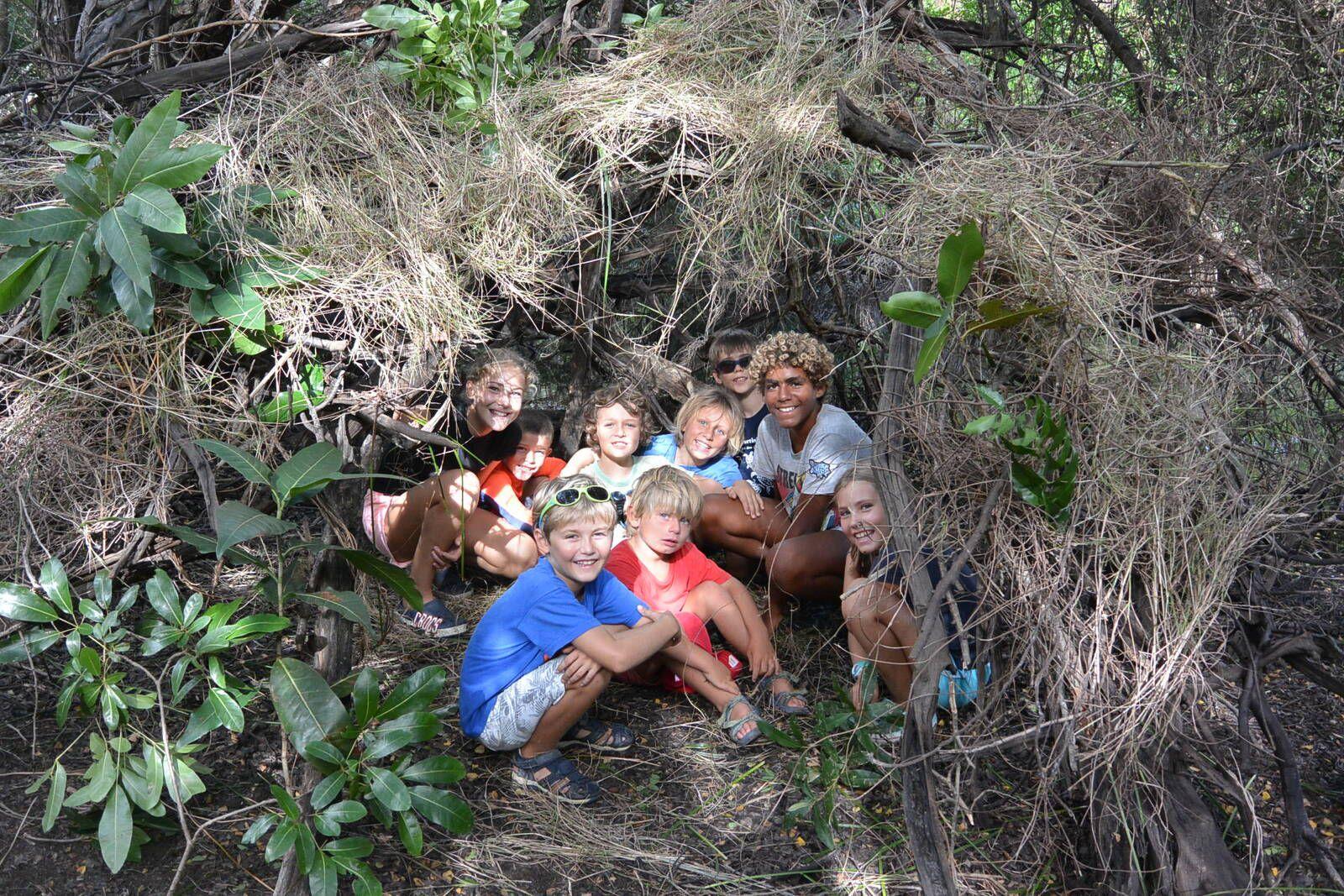 Notre super cabane dans la forêt ! Un moment Colibris à Grande Anse en Martinique
