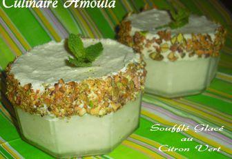 """Soufflé glacé au citron vert """"Recettes du Ramadan"""""""