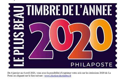 Election des plus beaux timbres de l'année 2020