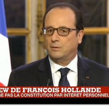 "François Hollande: ""On ne change pas de la Constitution par intérêt personnel""."