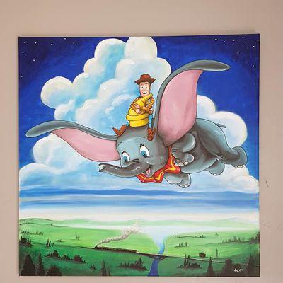 Dumbo & Woody , (version Ethan )