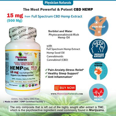 All Natural American Full Spectrum CBD Oil Hemp Extract for Pain & Stress Relief
