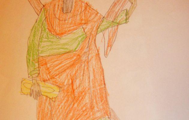 Desen religios - Sfinţii Andrei şi Nicolae