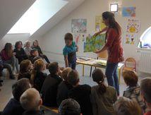 Bibliothéque La Chapelle aux Bois : Marina Rouzé, une illustratrice à l'école