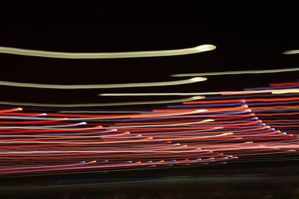 La course de la lumière sur 3.2 secondes