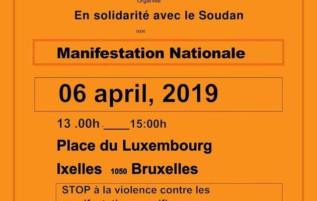 Appel à la solidarité avec la lutte du peuple soudanais - Initiative du PC de Belgique