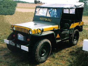 Jeep Hotchkiss des Formations militaires de la sécurité Civile au 1:43 (Oliex)