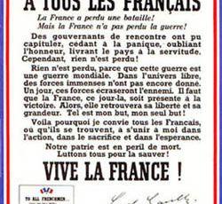 75ème anniversaire appel du Général De Gaulle
