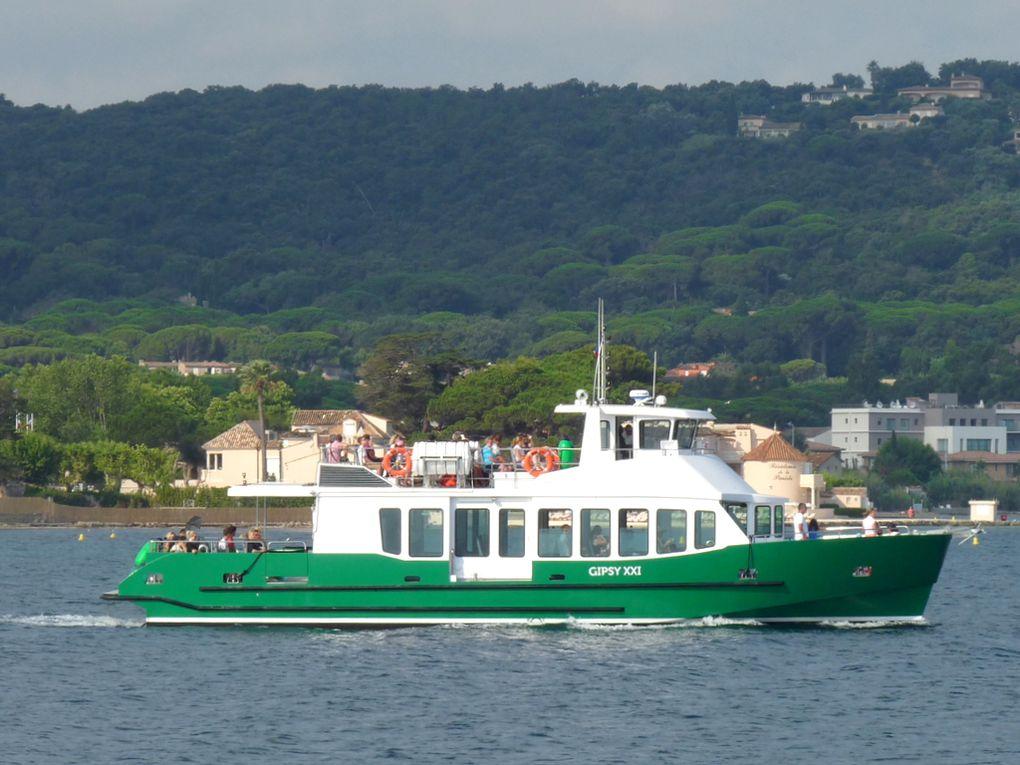 GIPSY  XXI , vedette passagers pour les traversées du golfe de Saint Tropez le 09 juillet 2018