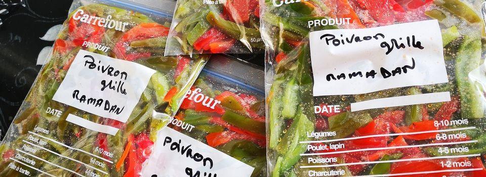 PRÉPARATION DU RAMADAN #1 poivrons grillé (salade mechwiya ou farce pour batbout)