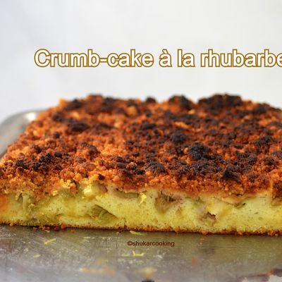 Crumb-cake à la rhubarbe