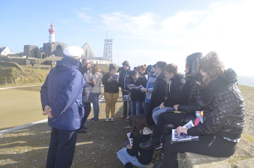 14 février 2014 - visite d'un collège de la Haute-Marne. Photographies : Thadée Kasiorek (association Aux Marins)