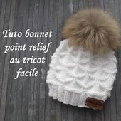 TUTO BONNET POINT RELIEF - Chez elkalin.com