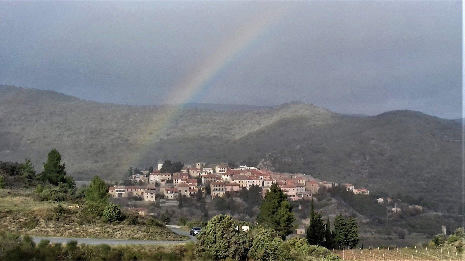 En plus le rayon de soleil sur Cucugnan