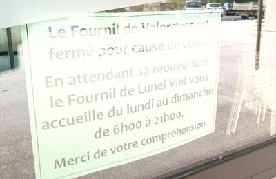 """Fermeture de la boulangerie """"Le Fournil de Valergues"""" pour cause de Covid"""