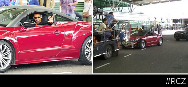 WILL SMITH IN A PEUGEOT RCZ
