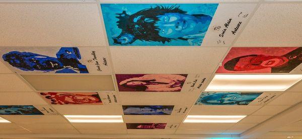 Un bel hommage des élèves à nos artistes