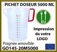 Pichet doseur de 5 litres professionnel avec poignée de couleur - GO145-20M5000
