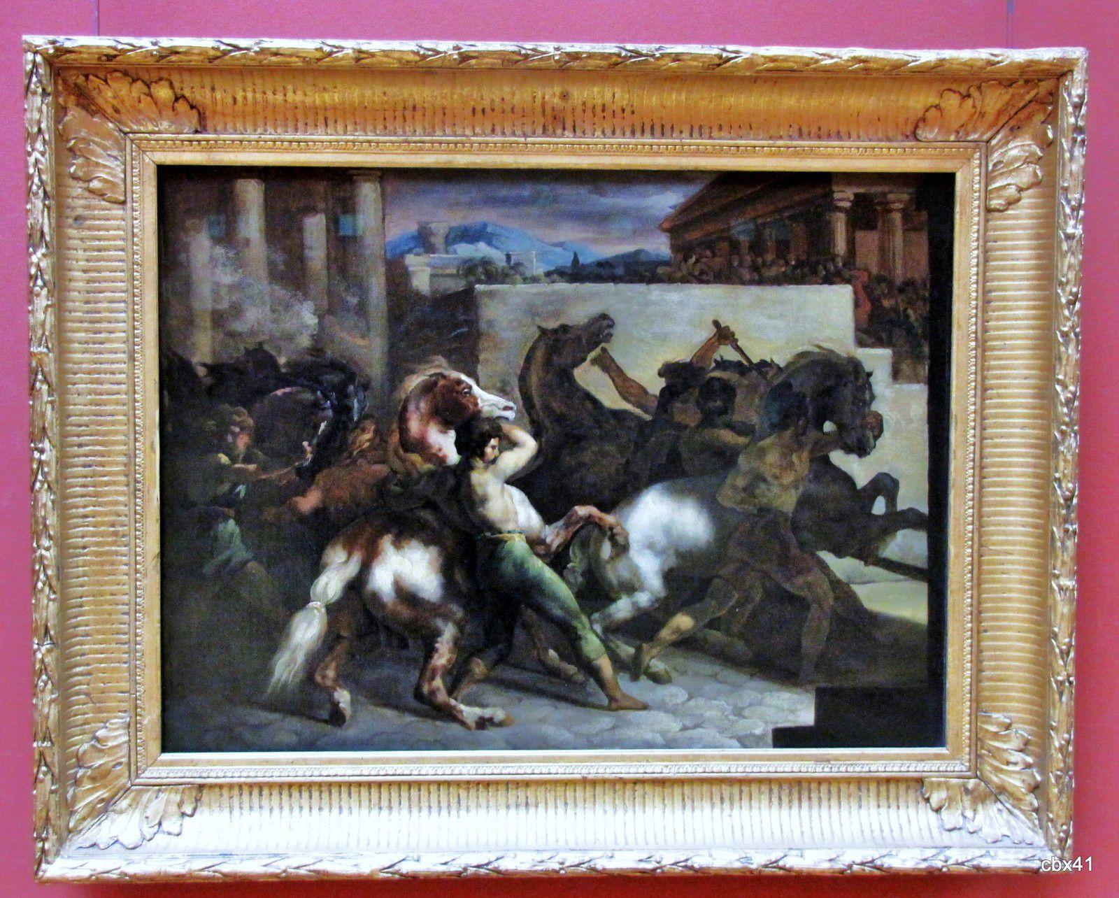 Théodore Géricault, Course de chevaux libres à Rome