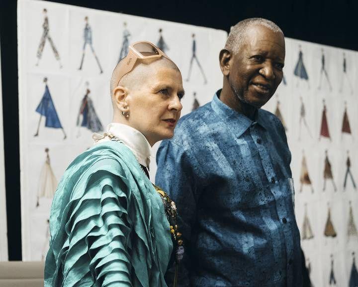 Imágenes de tejidos africanos con estampados.- El Muni.