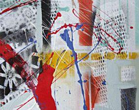 Série Ilusions. Hommage à Robert Rauschenberg, 2008 Technique mixte sur toile, 40 x 40 cm