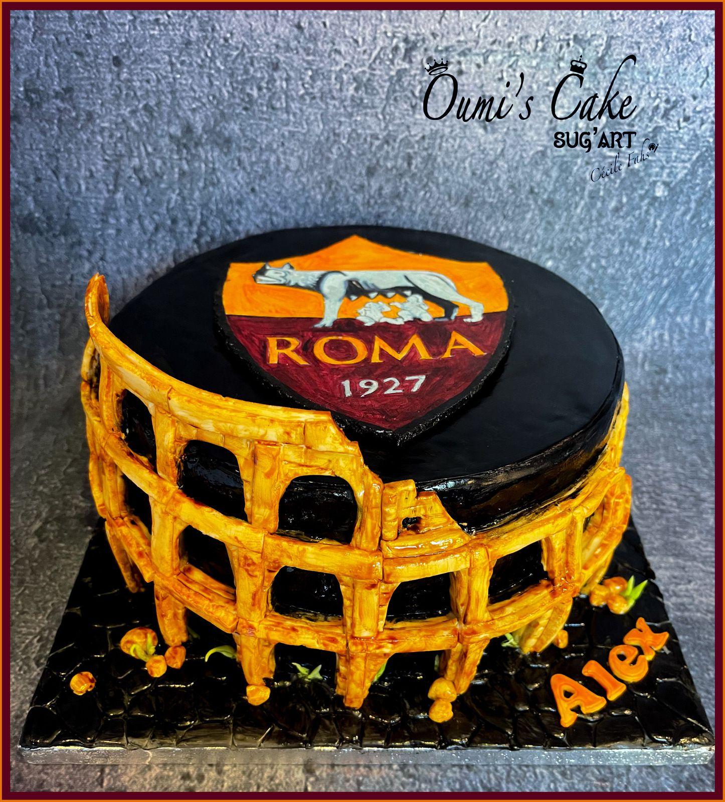 AS Roma Cake - Coliseum Cake