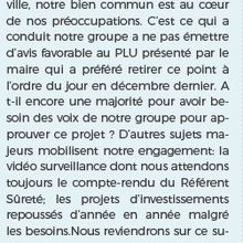 Tribune du groupe Passion Morangis  Mars 2019