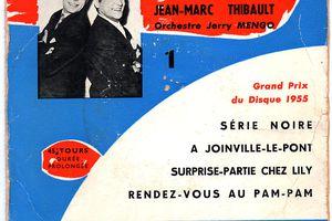 """R.Pierre et J.M.Thibault et l'orchestre Jerry Mengo """"série noire"""" Ducretet - Thomson 460 V 026 - 1956"""